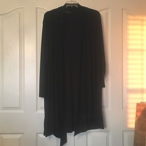 Simple Black Cardigan Duster